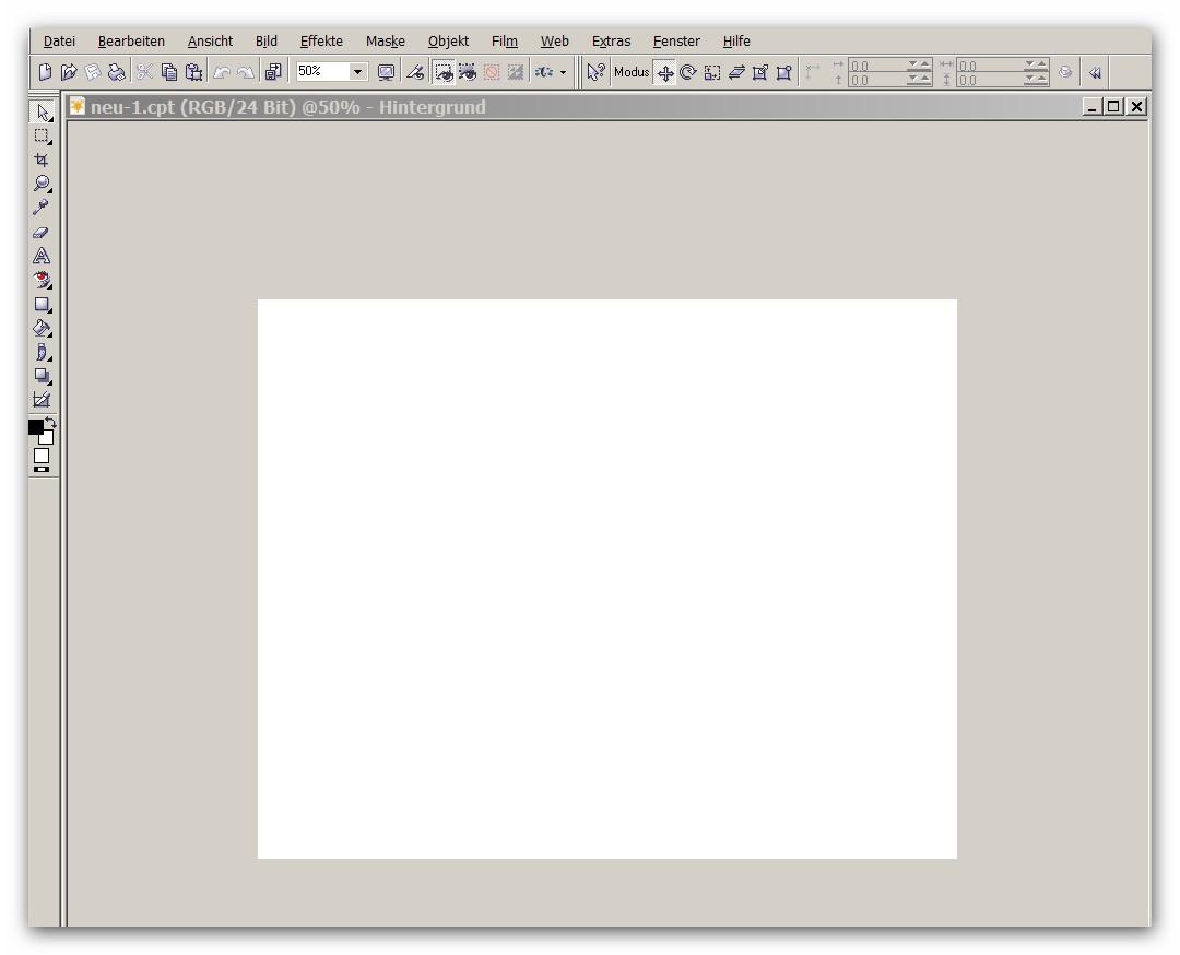 Photo Paint - Bildschirm